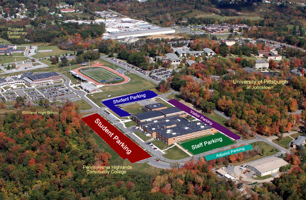 Aerial Parking Map of the Richland Campus