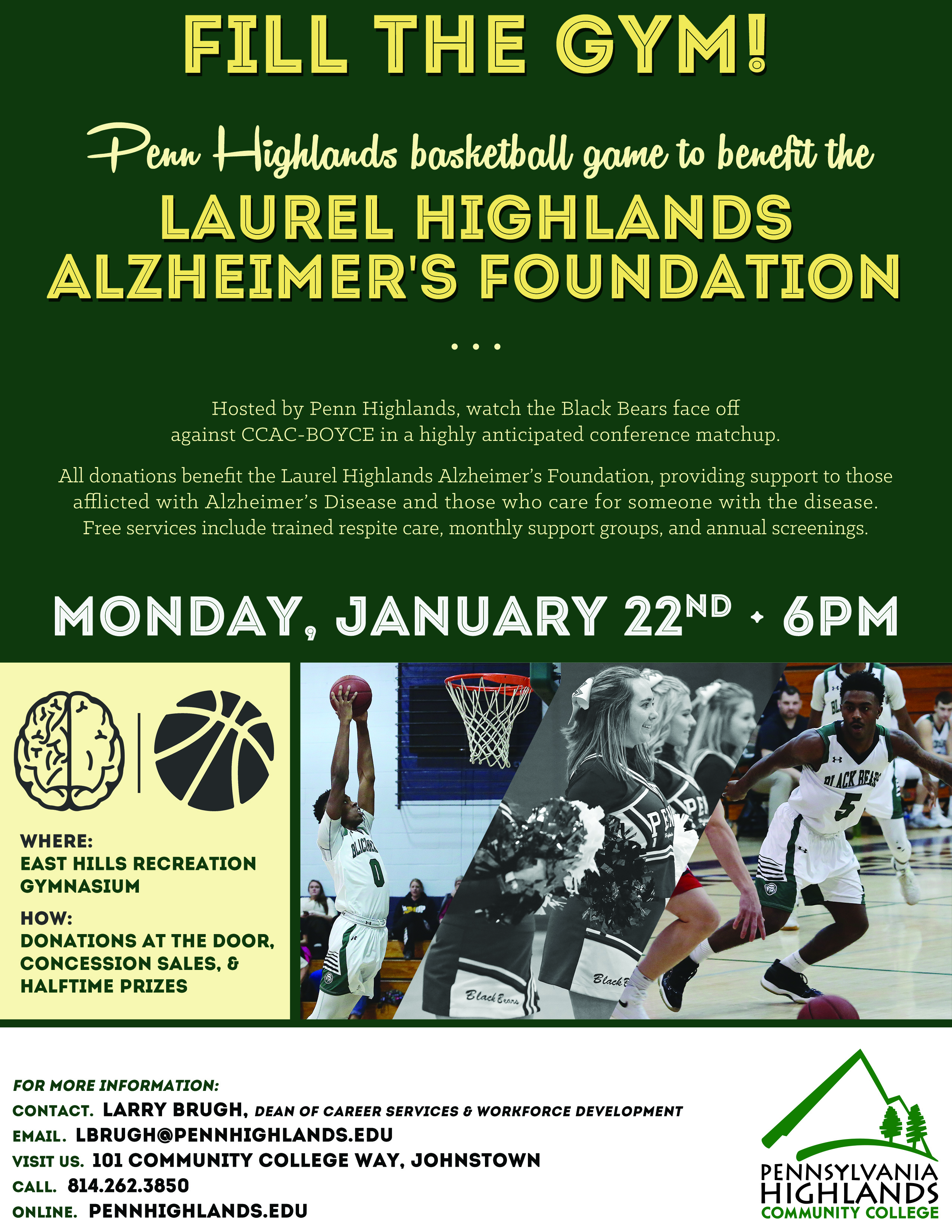 Flyer - Alzheimers Basketball Game
