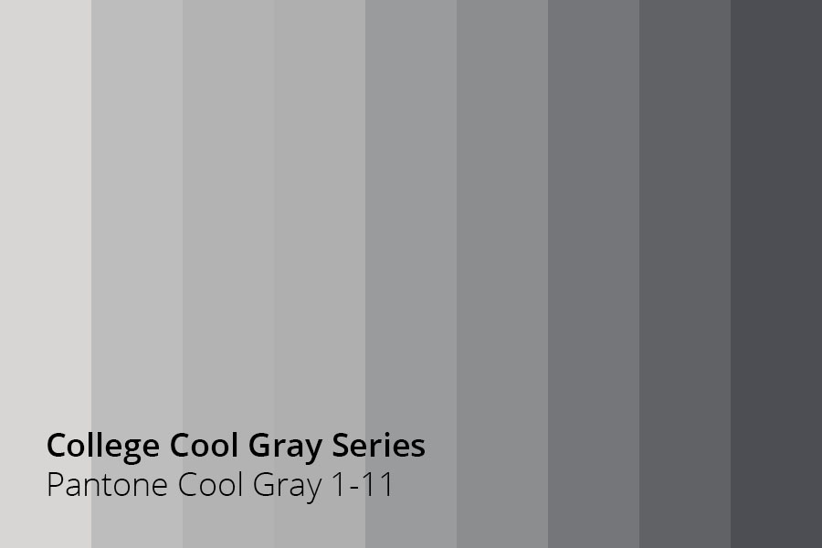College Cool Gray Series Pantone 1 11 Cmyk Tbd Rgb Hex