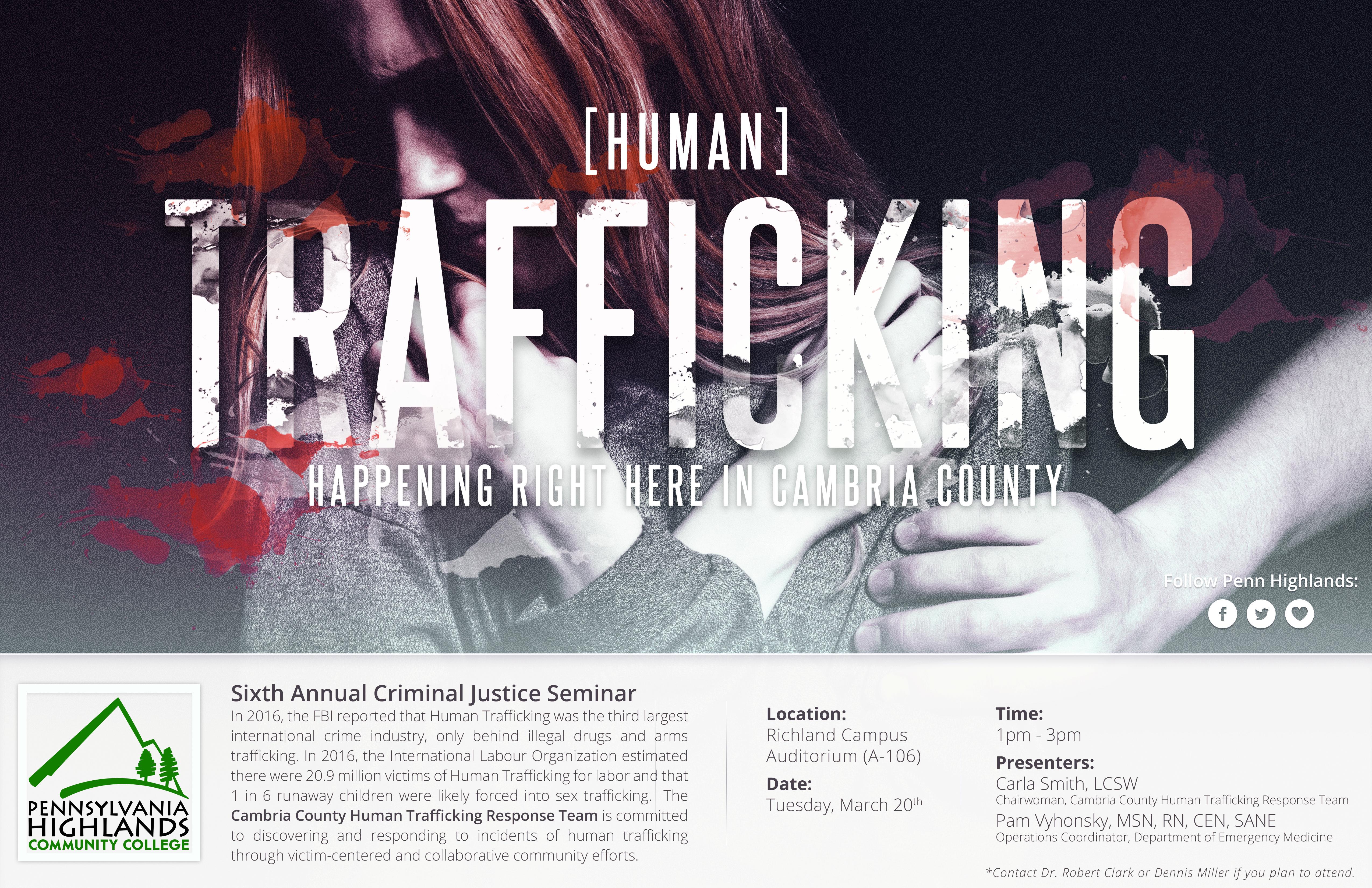 Sixth Annual Criminal Justice Seminar Flyer