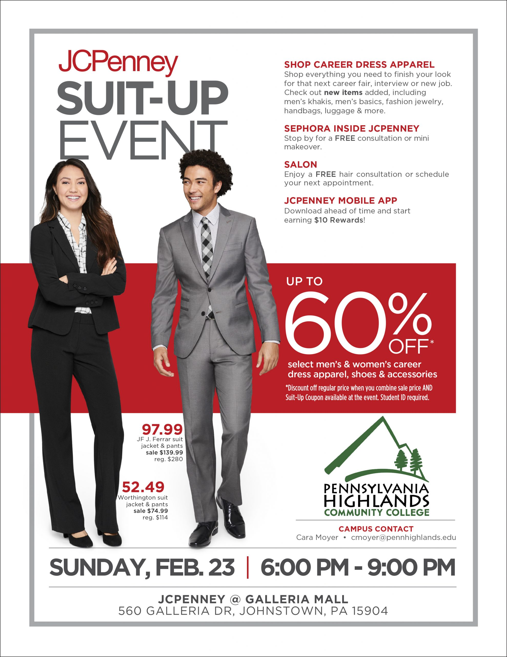 JCPenney Suit Up Event Flyer
