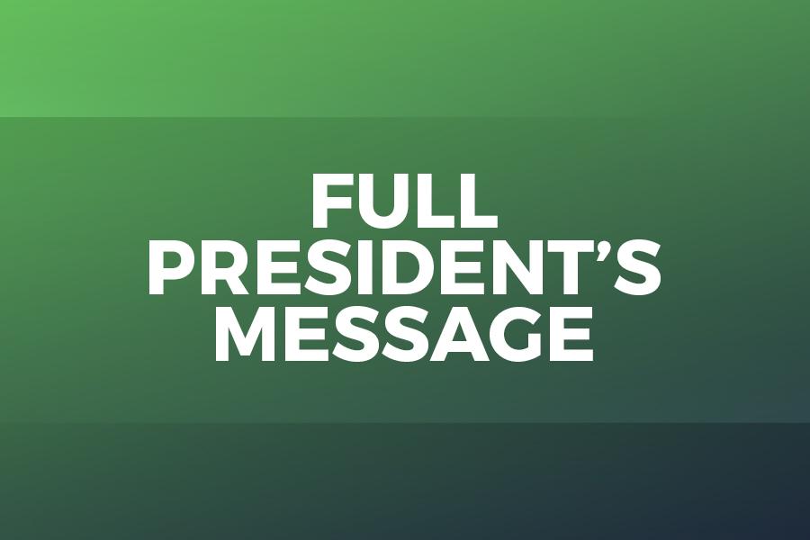 President's Message